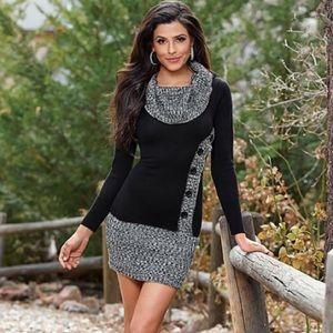 VENUS cowl neck sweater dress